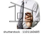 hand drawing a house | Shutterstock . vector #1101160685