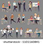 set of creative people flat... | Shutterstock .eps vector #1101160841