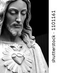 Close Up Jesus  Black And Whit...