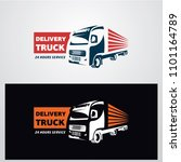 delivery truck logo designs... | Shutterstock .eps vector #1101164789
