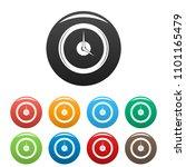clock deadline icon. simple... | Shutterstock .eps vector #1101165479