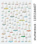 small sail boat pattern ... | Shutterstock .eps vector #1101166607