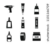 glue stick adhesive icons set....   Shutterstock .eps vector #1101166709