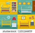 baby crib cradle bed banner... | Shutterstock .eps vector #1101166859