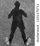 a man's shadow | Shutterstock . vector #1101170711