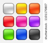colorful square button set on... | Shutterstock .eps vector #1101170807
