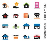solid vector ixon set   house... | Shutterstock .eps vector #1101174437