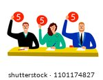 quiz jury. competition judge... | Shutterstock .eps vector #1101174827