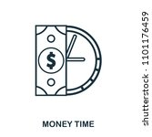 money time icon. flat style...