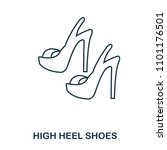 high heel shoes icon. flat...