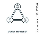 money transfer icon. flat style ...