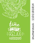 time to relax. white outline... | Shutterstock .eps vector #1101181814