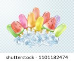 ice lolly on transparent... | Shutterstock .eps vector #1101182474