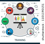 training flat icons concept.... | Shutterstock .eps vector #1101190151