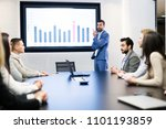 picture of business meeting in... | Shutterstock . vector #1101193859