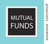 mutual funds concept  vector... | Shutterstock .eps vector #1101194129