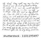 handwritten letter. handwriting.... | Shutterstock . vector #1101195497