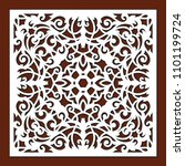 laser cut template of openwork... | Shutterstock .eps vector #1101199724