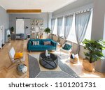 elegant fashionable interior of ... | Shutterstock . vector #1101201731