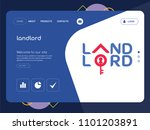 quality one page landlord...   Shutterstock .eps vector #1101203891