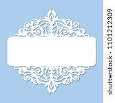 laser cutting template of...   Shutterstock .eps vector #1101212309