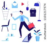 office concept business people... | Shutterstock .eps vector #1101217574