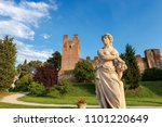 the fortified medieval town of...