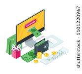 cashback concept. vector...   Shutterstock .eps vector #1101220967