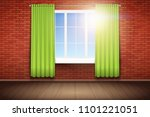 example of an empty room with... | Shutterstock .eps vector #1101221051