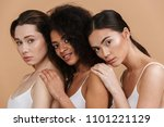 image closeup of three gorgeous ... | Shutterstock . vector #1101221129