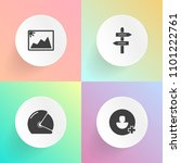 modern  simple vector icon set... | Shutterstock .eps vector #1101222761