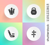 modern  simple vector icon set... | Shutterstock .eps vector #1101222815
