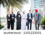 Small photo of Multicultural business people meeting and talking about business - Multiracial business team meeting
