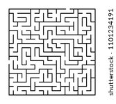 black and white simple maze... | Shutterstock .eps vector #1101234191