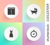 modern  simple vector icon set...   Shutterstock .eps vector #1101237059