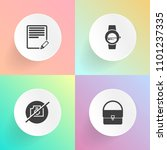 modern  simple vector icon set... | Shutterstock .eps vector #1101237335