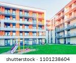 complex of modern apartment... | Shutterstock . vector #1101238604