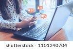 Woman Laptop Using Social Medi...