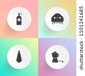 modern  simple vector icon set... | Shutterstock .eps vector #1101241685