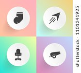 modern  simple vector icon set... | Shutterstock .eps vector #1101241925