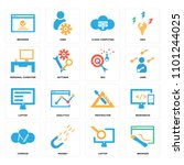 set of 16 icons such as browser ...