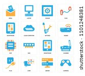 set of 16 icons such as gamepad ...