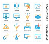 set of 16 icons such as browser ... | Shutterstock .eps vector #1101248921