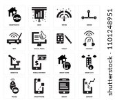 set of 16 icons such as demand  ...