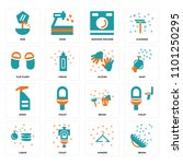set of 16 icons such as brush ...