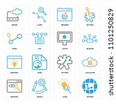 set of 16 icons such as... | Shutterstock .eps vector #1101250829