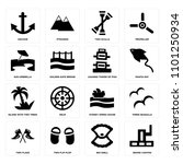 set of 16 icons such as grand...