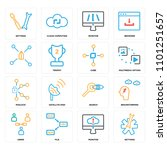 set of 16 icons such as... | Shutterstock .eps vector #1101251657