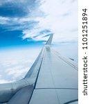 sky outside an airplane | Shutterstock . vector #1101251894