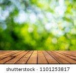wood paneling and green bokeh...   Shutterstock . vector #1101253817